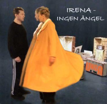 """Irena - ingen ängel är en historia om den som befinner sig  på """"rätt"""" sida av orättvisorna, som själv har alla rättigheter och ändå väljer det svåraste. Därför att det är det rätta.  Föreställningen kännetecknas av en poetisk lekfullhet med mycket rörelse och musik. Det är en historia om rädslor, mod, fantasi och inre styrka."""