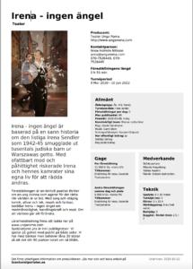 utbudsblad Irena